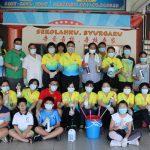 家协,家长与教师携手为宽二校园深层消毒、清理及美化。